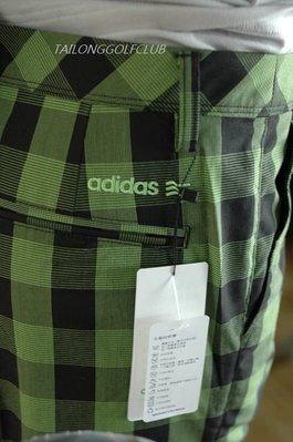 (任選2件5折) 零碼M號 全新 adidas Golf 高爾夫格子長褲 運動時尚剪裁 有科技的運動布料
