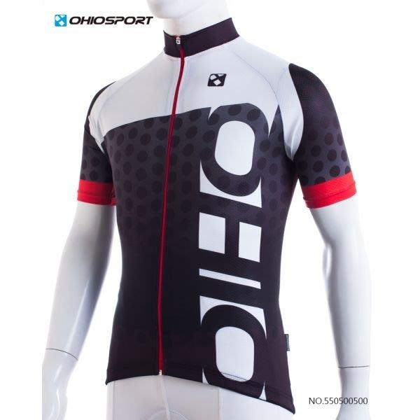 【速度公園】OHIOSPORT 1705-Racing系列車衣 紅色 M/L/XL 貼身款 彈性汗布 下擺固定鬆緊袋