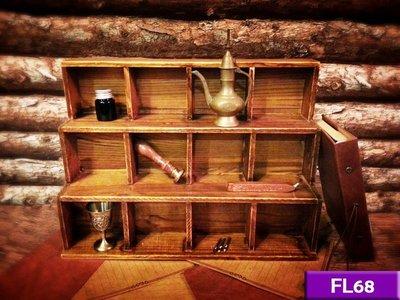 【現貨】實木小物展示櫃 (舊木色) FL68 展示櫃 收納櫃 工業風 北歐 LOFT 復古 美式