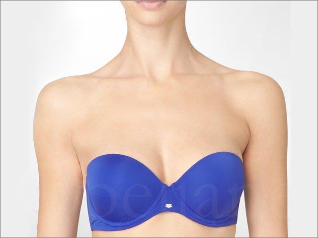 CK Calvin Klein BRA卡文克萊藍色可拆式肩帶托高UP內衣胸罩75A-34A加內褲減200愛Coach包包