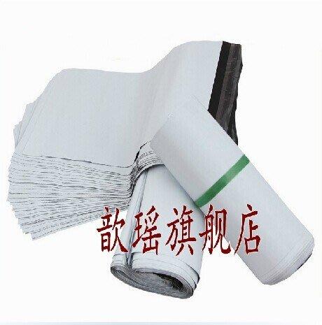 白色加厚12絲快遞袋淘寶袋防水包裝物流袋子訂做 100個
