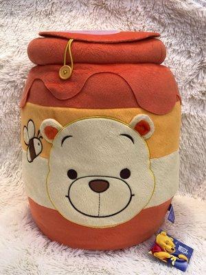 日本 Disney 景品 特大 Winnie the Pooh 小熊維尼 與 Little Piglet 小豬霹靂 收納筒 一個 ( 保證日版)