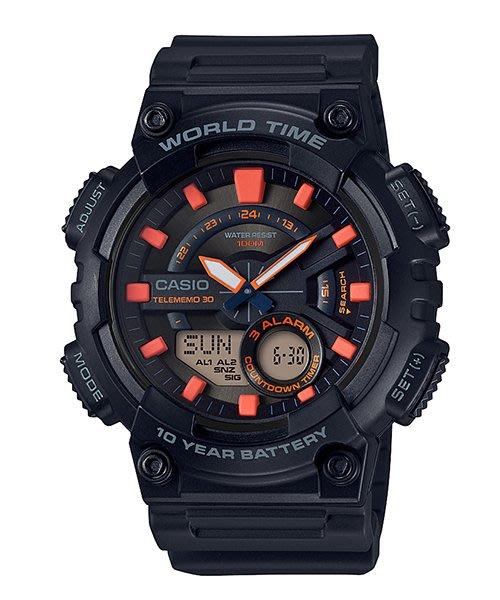 [ㄚ寶3C ] CASIO AEQ-110W-1A2 世界地圖.防水100米.雙顯運動錶.AEQ-110W