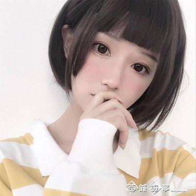 姬發式假發女短直發自然逼真圓臉日常Lolita公主切三刀齊cos假毛