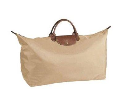 *旺角名店* Longchamp le pliage 摺疊 短把 XL號 淺卡其色 國民包 旅行 行李 全新品 現貨 [042704]