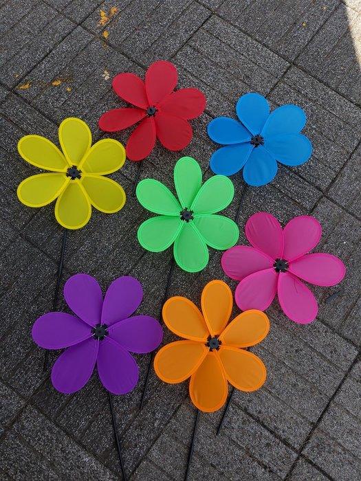 [翔飛戶外休閒] 美麗的六片花瓣大風車-粉.藍.紅.綠.黃.紫.橘單色風車 -有各式各樣風車【直購下標區】