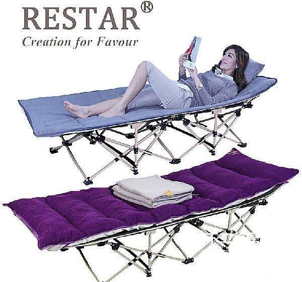 【格倫雅】^RESAR加固躺椅折疊床單人床午睡床午休床行軍床 午休床 摺疊床 懶371