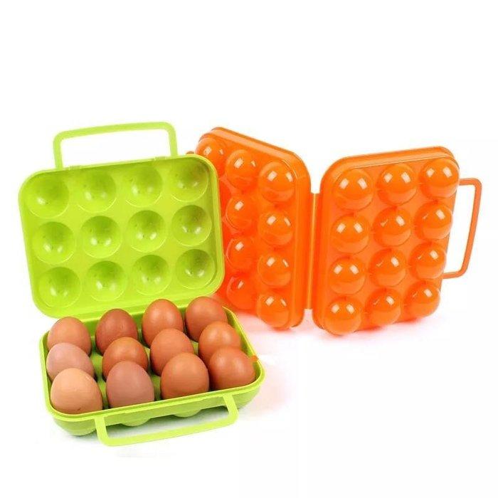 現貨🔥露營好物☀️韓國品牌 雞蛋攜帶手提收納盒PP盒 12個裝 顏色隨機發貨