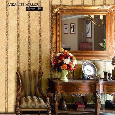 【德興生活館】歐式復古浴室鏡裝飾鏡梳妝鏡壁爐玄關衛生間掛鏡穿衣鏡油畫實木框 特價促銷