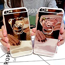 iPhone 6/S 5.5吋 Plus 小熊 指環 鏡面 軟殼 支架 鏡面支架 鏡面殼 手機殼