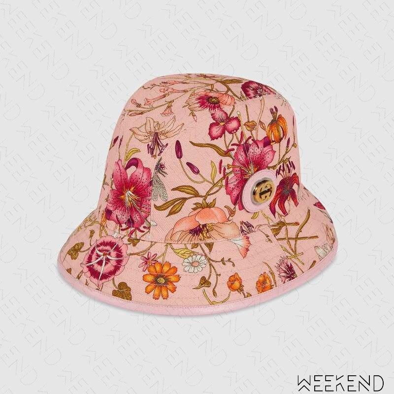 【WEEKEND】 GUCCI Fedora Hat 金屬Logo Flora 花朵 漁夫帽 帽子 577731