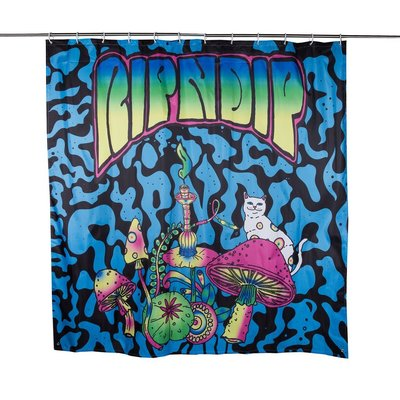 中指貓 台灣總代理 RIPNDIP PSYCHEDELIC SHOWER CURTAIN 浴簾