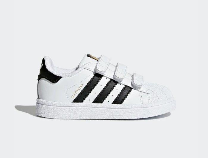 沃皮斯§Adidas Superstar Foundation 黑白 魔鬼氈 小童 BZ0418