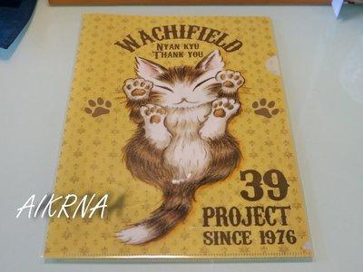 wachifield-dayan(瓦奇菲爾德,達洋)~全新非賣品貓咪A4文件夾~感謝小貓