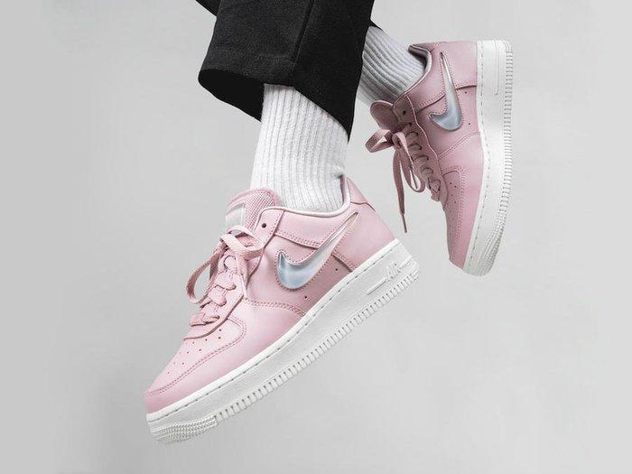 [Roen羅恩代購] NIKE Air Force 1 '07 PRM 空軍一號 漸變果凍單勾 休閒女籃球鞋 粉 透明水珠