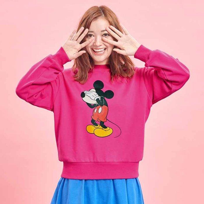 《FOS》日本 Disney 迪士尼 T恤 長袖 大學T 棉T 運動服 維尼 米奇 熊抱哥 限量 2019新款 熱銷