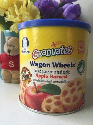 【Sunny Buy寶貝館】◎預購◎美國Gerber Graduates 嬰幼兒 華夫車輪 穀物餅 蘋果口味 42g