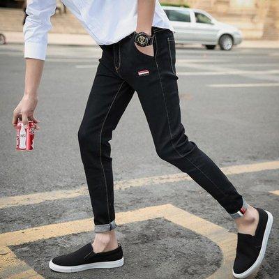 現貨/男士薄款破洞九分牛仔褲新款韓版修身小腳潮9分男褲子/海淘吧F56LO 促銷價