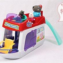 新品市場 小豬佩奇過家家 佩佩粉紅豬小妹 3隻小豬快艇滑梯套裝