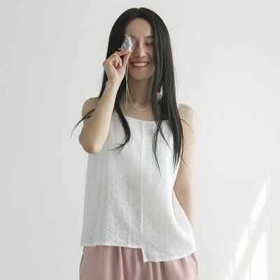 無袖T恤 純棉圓領上衣-休閒百搭不規則短版女裝2色73nl10[獨家進口][米蘭精品]