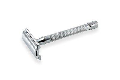 【超取免運】Merkur 德國23C 刮鬍刀+義大利proraso綠薄荷刮鬍泡(400ml)