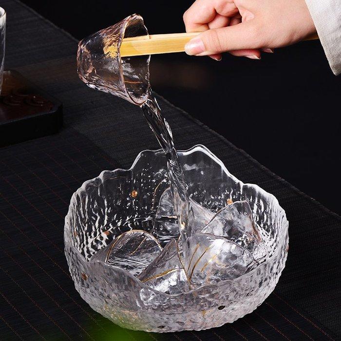 奇奇店-日式手工錘紋玻璃茶洗杯筆洗水洗碗水盂大號功夫茶具茶道配件果盤(規格價格不同諮詢客服喔)
