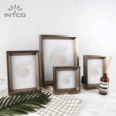 北歐金屬質感創意相框擺台掛墻正方形4寸照片框 6 7 10寸裝裱畫框