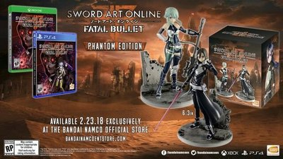 (N)開封品 冇GAME PS4 SAO Sword Art Online : Fatal Bullet 刀劍神域 ~ 奪命凶彈 雙 Figures