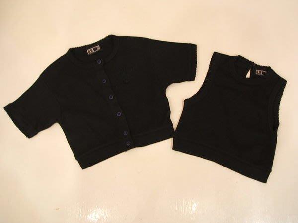 *花露露*baby 童裝~DAKS兩件式套裝(黑色)棉質超好~999元低價起標