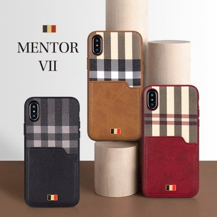 『四號出口』Latus 拉圖斯系列【 iPhone X/Xs 】質感 皮革 格紋 插卡槽設計 手機殼 背蓋