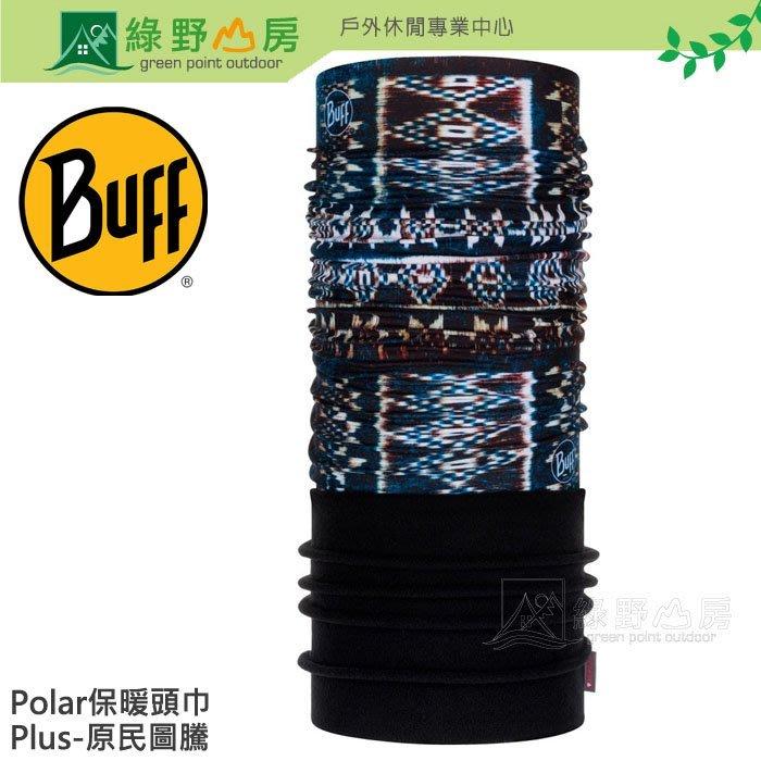 綠野山房》Buff 西班牙 原民圖騰 Polar Plus 刷毛保暖頭巾 魔術頭巾 單車 脖圍 圍巾 BF120904