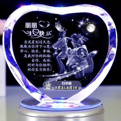 小賴的店--浪漫生日禮物女生 情人節送女友diy特別照片定制創意白羊金牛座