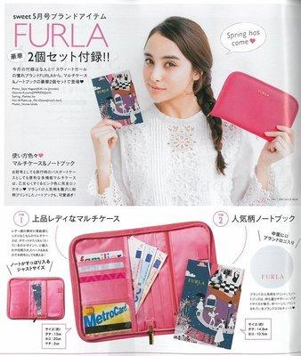 ☆MYWAY ZAKKA☆日文雜誌SWEET附錄【FURLA粉紅手帳本長夾】206032