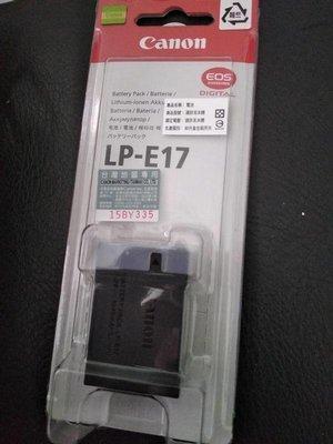 非平輸高仿 正品 台灣公司貨 CANON LP-E17 原廠電池 完整盒裝 EOS M5 M3 750D 760D
