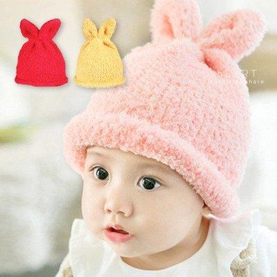 【可愛村】 毛絨兔耳加厚保暖帽 童帽 毛帽 絨毛帽
