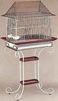 ❤❤夢工廠寵物家❤❤造型屋型鳥籠(含腳架)