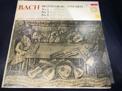 開心唱片 (BACH / BRANDBURG CONCERTI) 二手 黑膠唱片 DD052