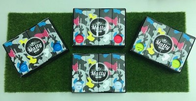 青松高爾夫 FOREMOST Matty 3層 彩色霧面球( 白/藍黃/粉/) 一打$700元