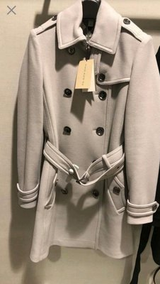 全新真品現貨 Burberry 大衣 風衣 石洗色羊絨大衣 Cashmere UK10/L/40/US8🍒誠可小議 全館免運 🍓最後換季出清