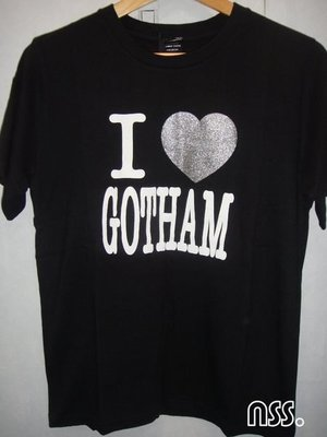 特價「NSS』NUMBER (N)INE NINE N9 I LOVE GOTHAM 燙銀 愛心 2 3 M L