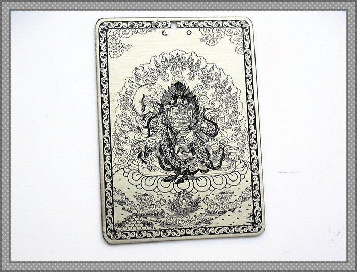 【雅之賞|藏傳|佛教文物】*手工訂製 * 純銅 二臂瑪哈嘎拉護身佛卡~Q281