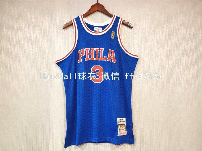 艾倫·艾佛森(Allen Iverson) NBA費城76人隊 球衣 3號 復古版