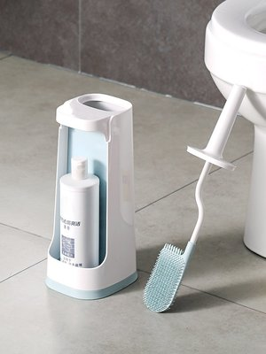 Ordinary shop  清潔用品  素白馬桶刷套裝帶底座軟毛潔廁刷 衛生間無死角長柄清潔刷居家必備