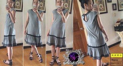 Nejma 可愛球球頂級真絲鑲邊Plenty by TRACY REESE美好二0年代搖曳裙襬低腰洋裝