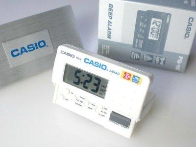 地球儀鐘錶 CASIO鬧鐘 電子 貪睡 旅用 折疊 攜帶型 LED燈【台灣公司貨有保固 開學價↘290】PQ-10白