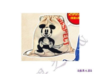 &蘋果之家&現貨-7-11米奇金鼠年系列-帆布束口後背包