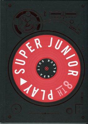 【嘟嘟音樂坊】Super Junior - 第八張專輯「PLAY」Black Suit版  韓國版