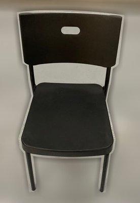台中二手家具 大里宏品二手家具館 F112640*黑色塑膠餐椅* 二手各式桌椅 中古辦公家具買賣 會議桌椅 辦公桌椅