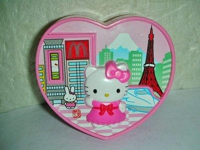 A集.(企業寶寶公仔娃娃)少見2010年麥當勞發行凱蒂貓遊歷大世界在東京按下按鍵M燈會亮