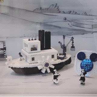 美國百分百 【全新真品】樂高 Lego 新真品 復古版 黑白 米奇 米妮 AF92